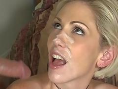 Kasey Grant gets facial semen fountain