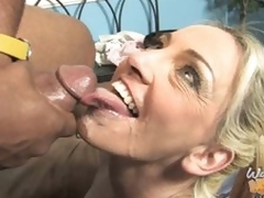 Cala Craves rides black penis and takes load to face