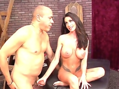 Actually gorgeous Latin chick milf Guy Di Silva making Randi Wright happy this day by dominating him