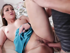 Lustful babe Dani Daniels with soaked booty finds herself getting penetrated by Xander Corvus