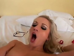 Jordan Ash gives playful Kylee Reeses mouth a try in oral action