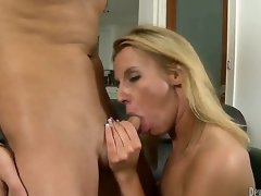 Kris Slater didnt know how lucky this chab was when his dad married the massive tramp in city Taylor Jo. Cock addicted blond milf didnt wait long to engulf her stepsons unbending cock...