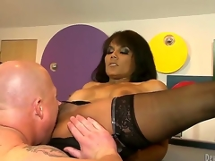 You might have seen a ton of sexy milfs in action, but exotic looking Anjanette Astoria is like a wild cat out of the cage! Jenner gives her dripping wet pussy what it likes best...