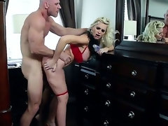 Hawt MILF action with this beautiful golden-haired with big tits, and this built stud with a big hard cock. Staring Alena Croft and Johnny Sins. That babe is one hot momma who likes to take cock between her big fake tits, and then unfathomable into her taut soaked pussy.