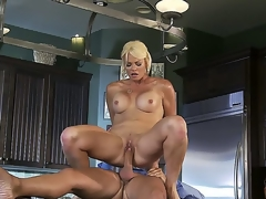 Nice-looking blonde milf Rhylee Richards looks astounding and this chick is one of cheating wives! This time this chick is going to be banged so hard by hugecocked dude Keiran Lee. See this action!