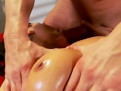 Charley Chase just finished her work and decided to go for a concupiscent oiled massage, this athletic guy will fuck that wench in all of her tight holes like never before, take a look!
