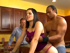 This mild mannered MILF isnt as innocent as that babe looks. So, when we brought in the Sledge Hammer we were a little taken aback by her willingness to suck him totally dry.