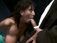 Alia Janine acquires restrained, dominated and screwed in the ass by Mark Davis.  Her huge mangos are flogged, clamped and squeezed tight in a wooden vice as that babe begs for forgiveness.