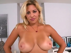 Jazmin is a sexy thick milf with a booty thats greater quantity then a handful. She acquires home with her new lover and takes off her clothes to demonstrate imposing tits.