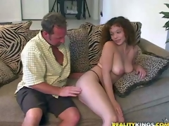 Shes another fascinating sexy bodied milf that gets seduced and banged by MILF Hunter. He touches and licks her fascinating large natural marangos before she takes his prick in her hot mouth. This well-endowed woman likes to suck