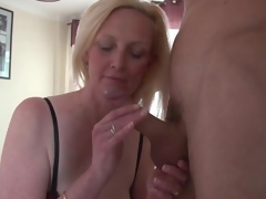 Beautiful large whoppers blonde mature sucks dick