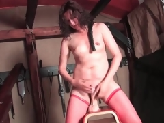 Sexy solo vibrator ride with hairy hair milf