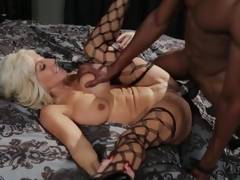 Interracial fuck for older MILF Tara Holiday