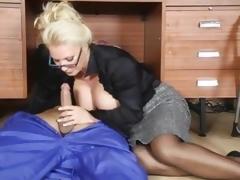 Lana Coxx office milf sucking wang