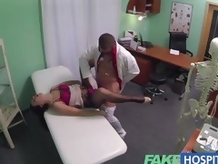 FakeHospital milf gets her soaked pussy slammed