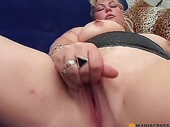 A dude stroking her soft pussy