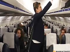 Two flight attendants entice pilot
