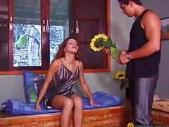 Legal Age Teenager on her knees engulfing shlong