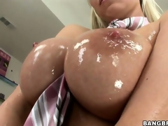 Sweet, oiled up titties and moist pussy make this Hungarian ultra lascivious