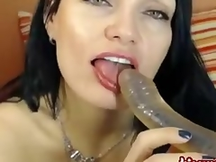 Brunette german angel does a cam show. You wil
