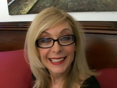 Sweety blond granny in glasses Nina Hartley talking messy in the bedroom