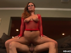 She rides that cock with the passion of a woman desirous to satisfy her dreams