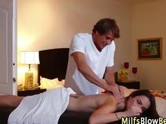 Swallowing sucking milf