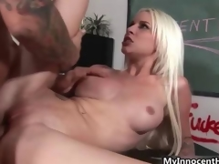 Gaffer blonde fucks horny cram film