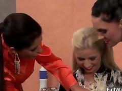 Naff blonde and brunette sluts obtain video 3
