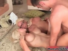 Hot blonde babes get horny