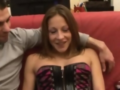 Kate french brunette fucked on a couch