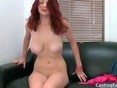 Sexy redhead babe goes crazy sucking movie