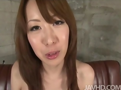 Misato Sakurai fingers and toys her tits and pussy