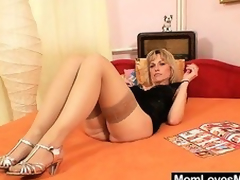 Superb blonde dilettante milf prankish time pellicle