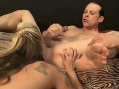 Busty peaches with smashing butt with the addition of hairy bush gets screwed with the addition of blows